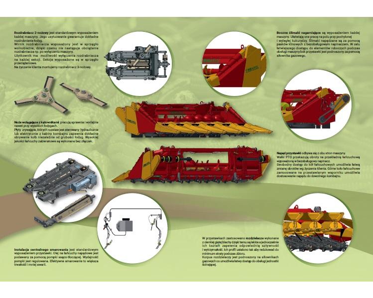 Infografika - budowa przystawki do kukurydzy